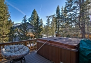 South Tahoe home deck and Hot tub